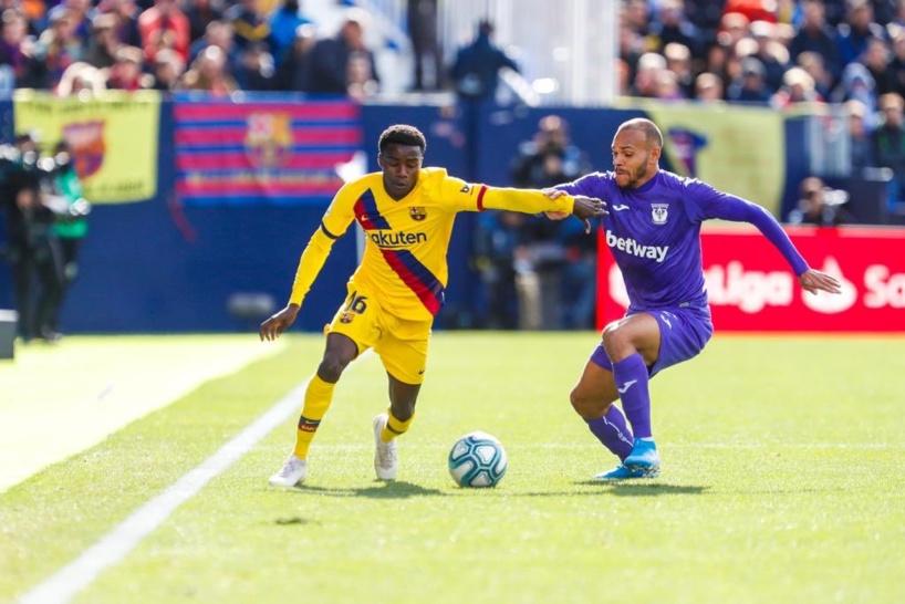 Wagué et le Barça gagnent  difficilement contre la lanterne rouge (1-2)