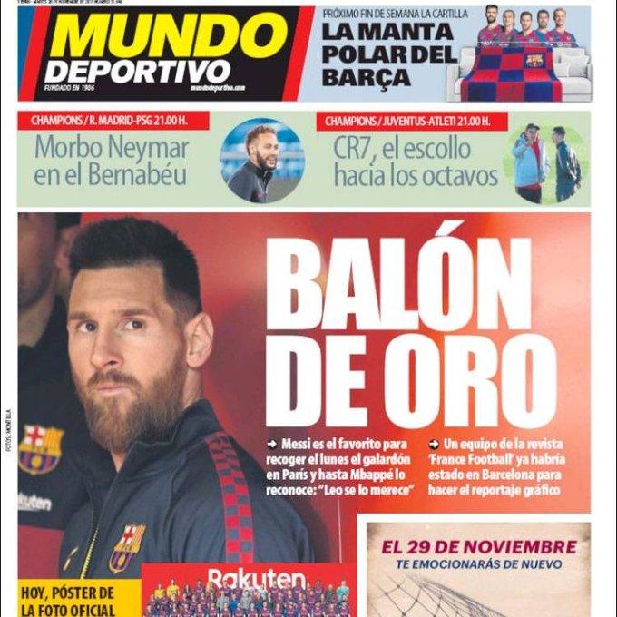 Lionel Messi Ballon d'Or 2019 selon Mundo Deportivo