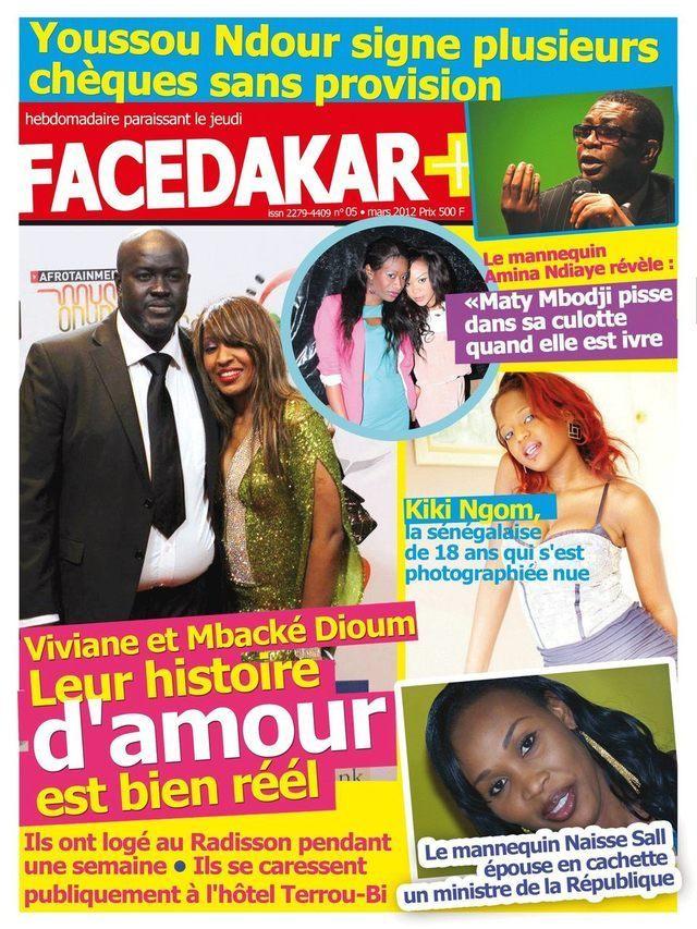 Voici la Une du magazine Facedakar Plus: Il est en vente depuis ce matin et durant tout le week-end