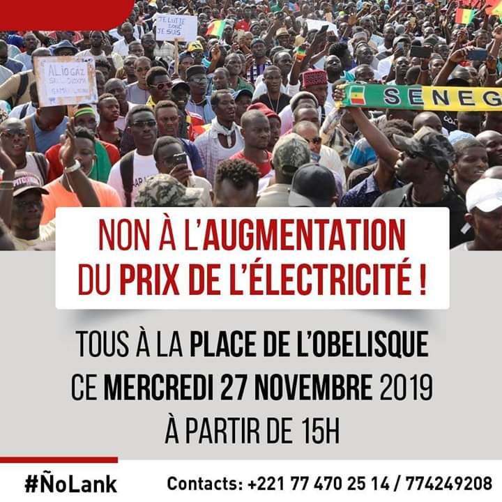 AAR Li ÑU Bok: Guy Maruis Sagna et Fatou Blondin prennent la relève et appellent à un grand rassemblement ce mercredi pour dire non à l'augmentation de l'électricité