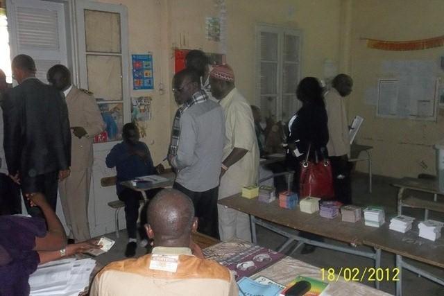 Vote militaire et paramilitaire à Diourbel :  Début timide au centre Algor Dioum