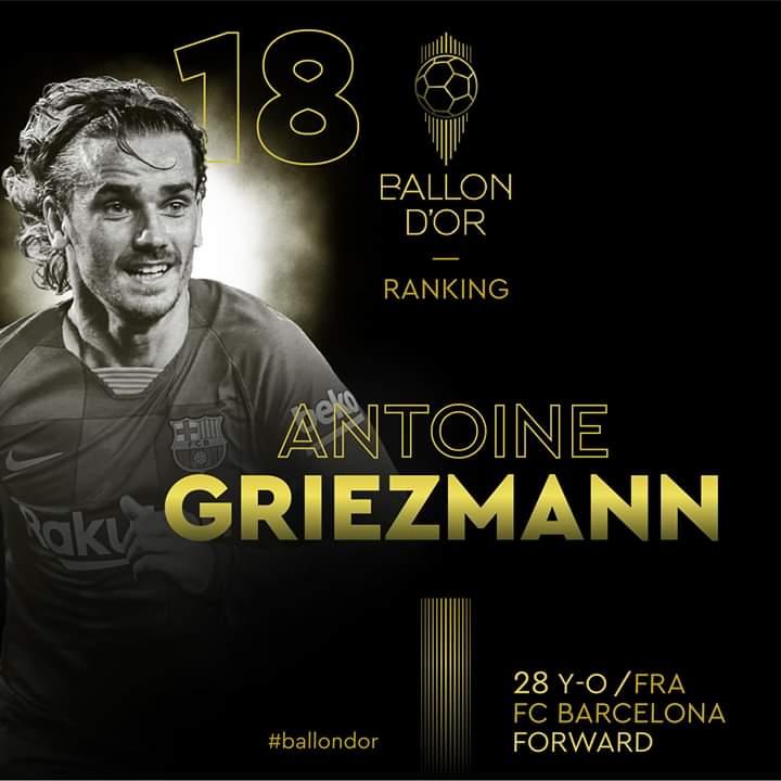 Direct -Ballon d'Or : le classement des joueurs dévoilé du 18e au 28e