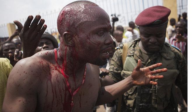 Photo archive prise en RDC lors des violences électorales