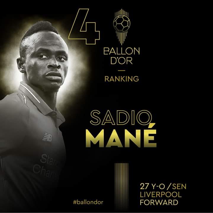 #Ballond'Or: le rédacteur en chef de France Football a voté pour Mané
