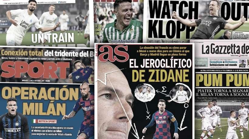 Le plan de Zinedine Zidane pour contrer Lionel Messi, le Barça veut lâcher deux joueurs à l'Inter pour recruter Lautaro Martinez