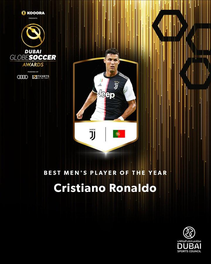 #Globe_Soccer_Awards - Cristiano Ronaldo élu joueur de l'année
