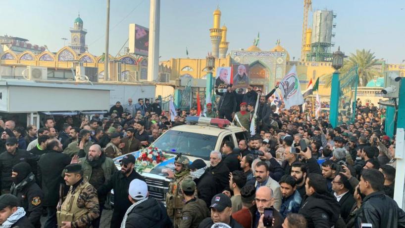 Irak: obsèques de Soleimani et Mouhandis en présence du Premier ministre