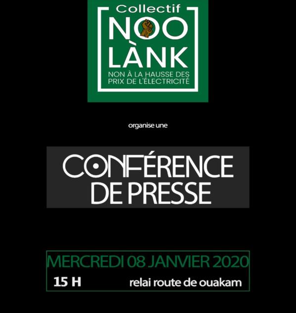 Le Collectif Noo Lank face à la presse demain mercredi