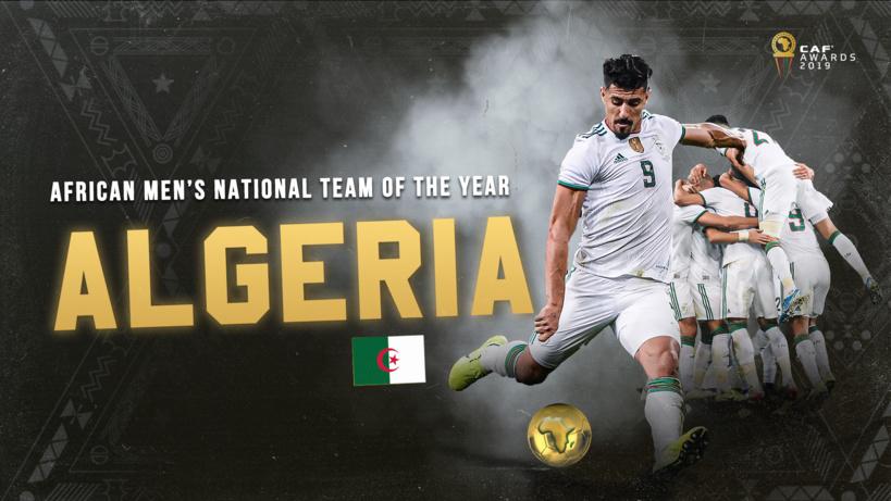 #CafAwards2019 - L'Algérie désignée meilleure équipe nationale africaine de l'année 2019