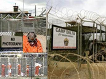 La prison de Guantanamo. AFP/Montage RFI