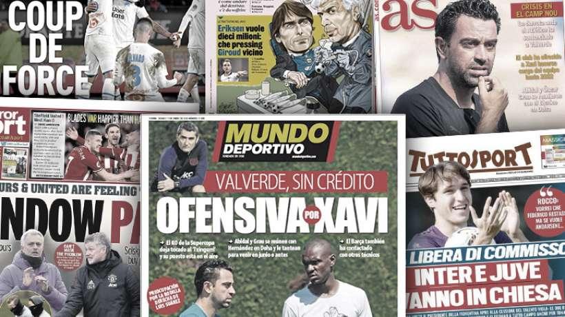 Le tremblement de terre Xavi secoue Barcelone et l'Espagne, la Juve et l'Inter en concurrence aussi sur le mercato