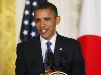 Le président américain Barack Obama se déclare favorable au mariage gay, le 8 mai 2012. REUTERS/Larry Downing