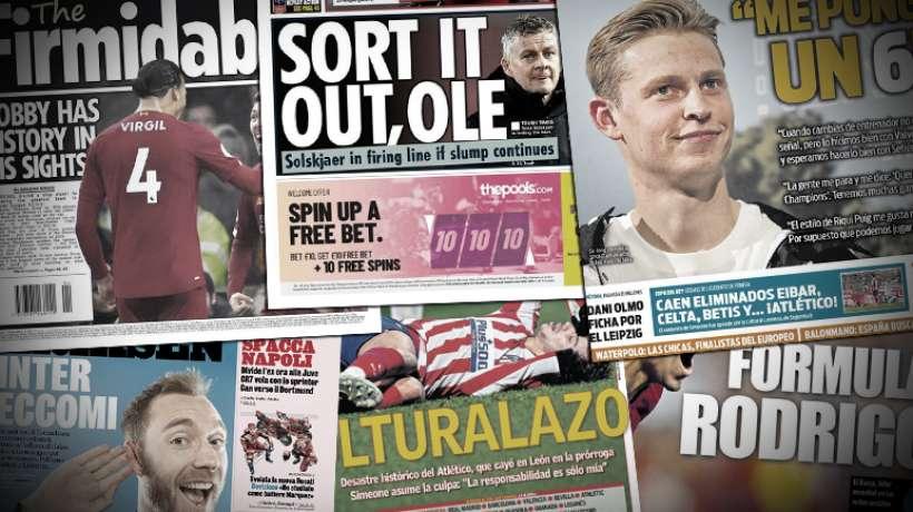 Barcelone force pour Olivier Giroud, Ole Gunnar Solskjær sur la sellette à Manchester United