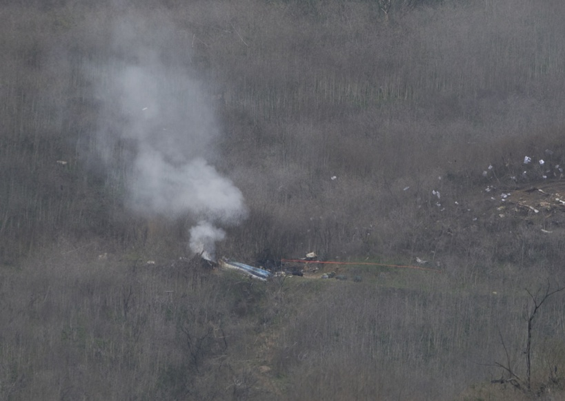 Faux, cette vidéo ne montre pas le crash de l'hélicoptère de Kobe Bryant