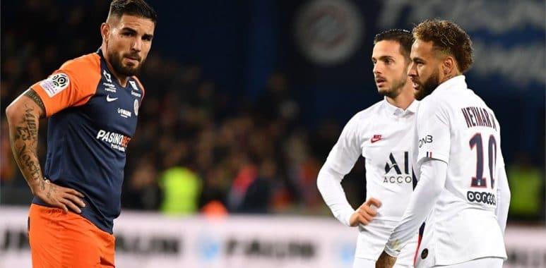 Montpellier: Andy Delort allume Neymar et Paredes avant le match contre le PSG