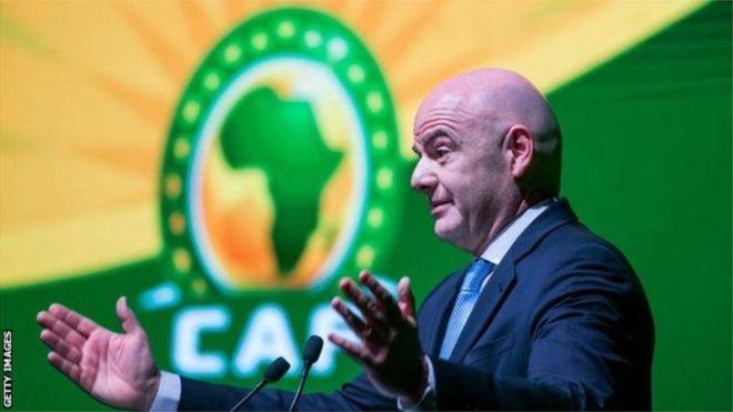 Le président de la Fifa propose d'organiser la CAN tous les quatre ans
