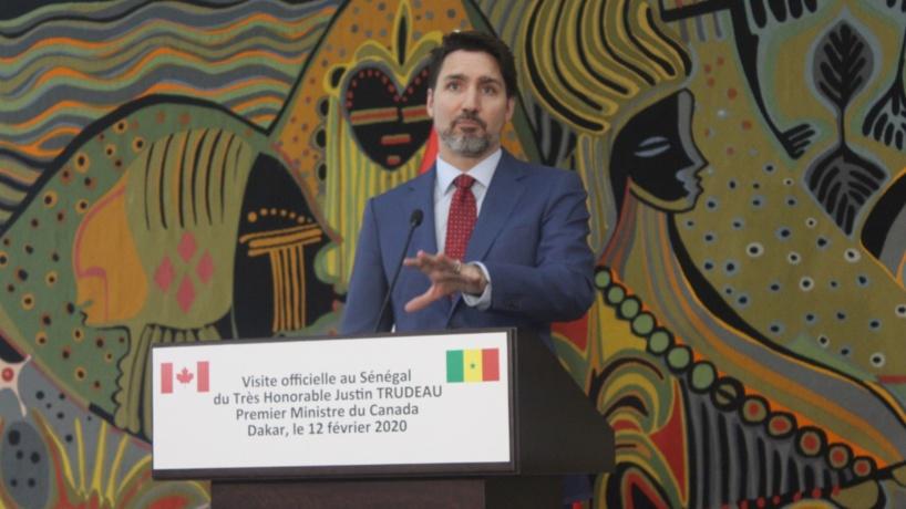 Justin Trudeau à Dakar: «Je défends toujours les droits humains, et j'amène ces enjeux-là partout où je vais »