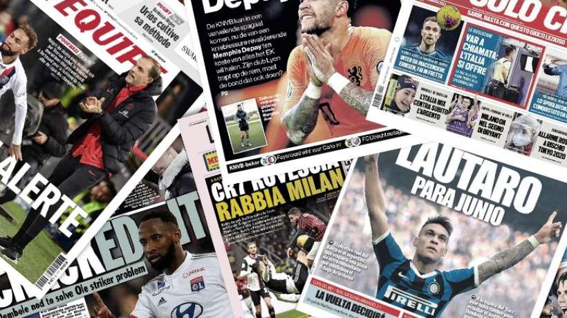 Cr7 fait les gros titres en Italie, Manchester United mise tout sur Moussa Dembélé