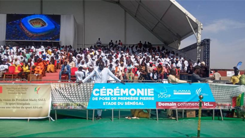 Diamniadio : Macky Sall lance les travaux de construction du stade du Sénégal