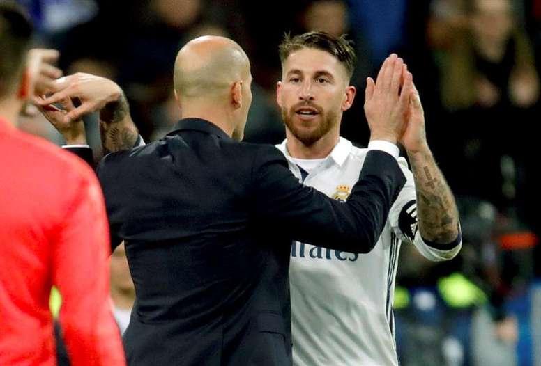 Zinedine Zidane milite pour la participation de Sergio Ramos aux JO