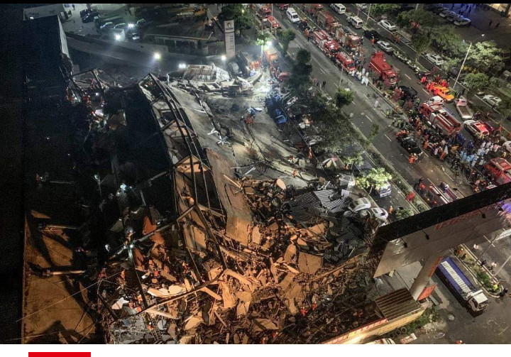 Un hôtel s'effondre dans le sud-est de la Chine, des dizaines de personnes sous les décombres