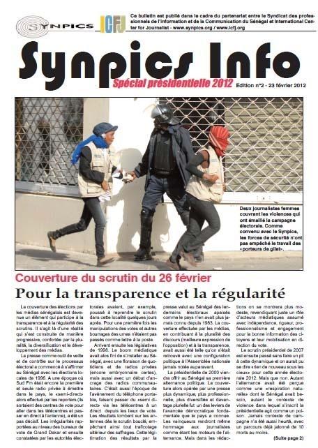 Médias: Le Synpics et les acteurs de la presse tirent les conclusions de la couverture de la campagne