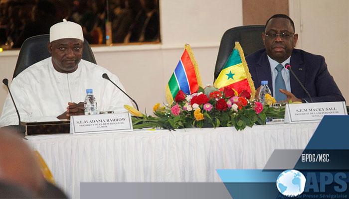 Macky Sall et Adama Barrow appellent au respect des règles relatives à la libre circulation des personnes et des biens