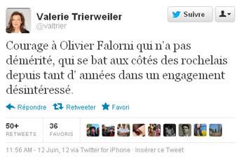La presse française ironise sur le tweet de Valérie Trierweiler