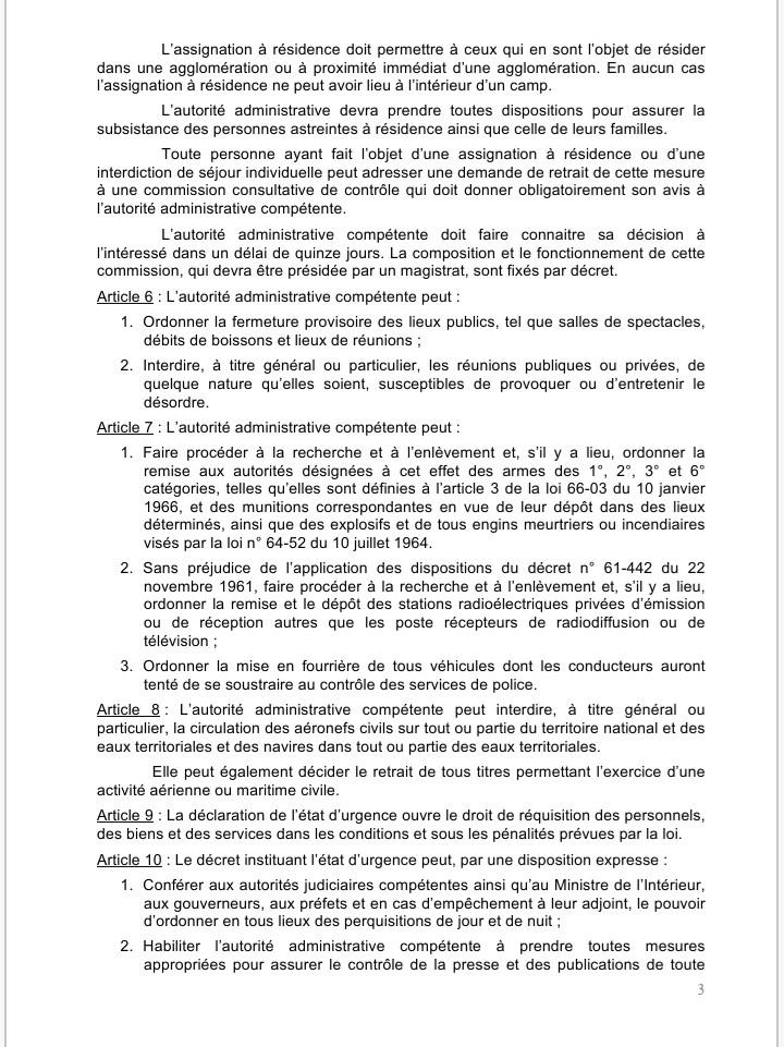 Sénégal: ce que dit la loi à propos de l'Etat d'urgence