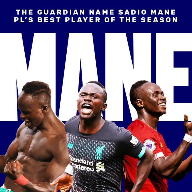 Premier League: Sadio Mané élu meilleur joueur de la saison par The Guardian
