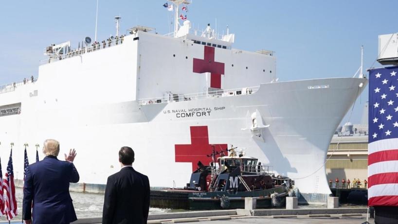 Coronavirus : un navire-hôpital militaire de 1000 lits arrive à New York