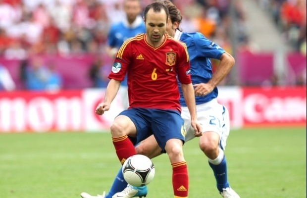 ½ finale Euro 2012-Portugal vs Espagne : Iniesta se dit « fier » du jeu espagnol