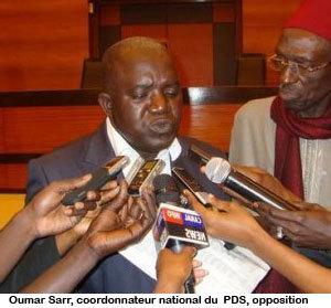"""Scrutin Législatives 2012: """"Nous allons remporter la majorité à l'Assemblée nationale"""", rassure, Omar Sarr du PDS"""