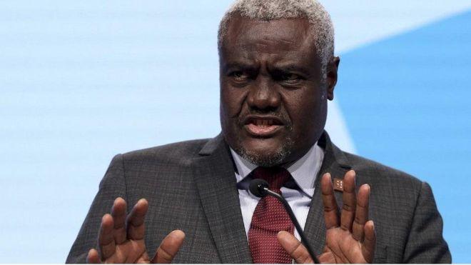 OMS : Moussa Faki Mahamat condamne la décision de Trump