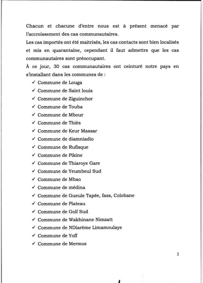 Les 30 cas communautaires inquiètent les autorités: « désormais, le port du masque fortement recommandé dans les lieux publics » (Ministère)