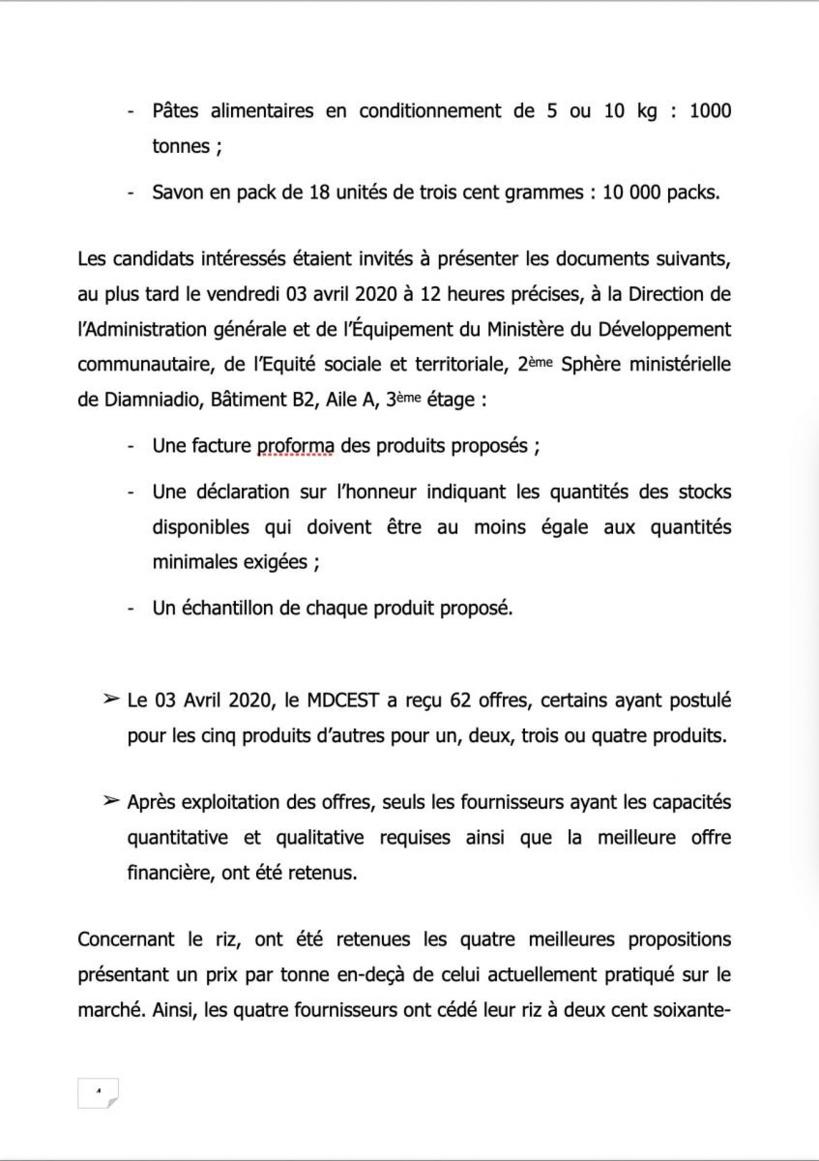 Processus d'acquisition et de transport de l'aide alimentaire (DOCUMENTS)