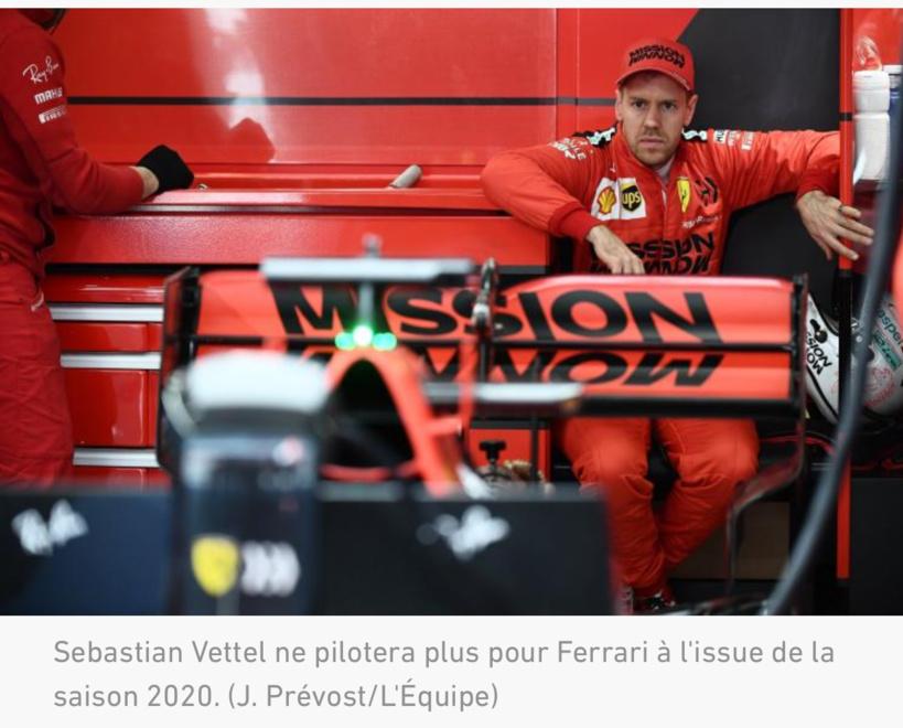Sébastien Vettel quitte Ferrari