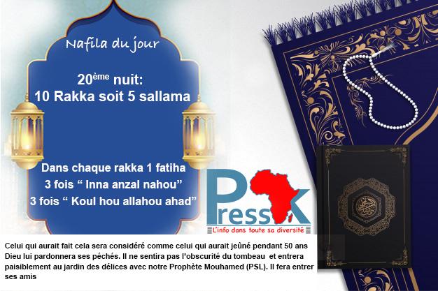 """Ramadan-Nafila de la 20ème nuit : 10 rakkas pour """"entrer paisiblement au jardin des délices"""""""