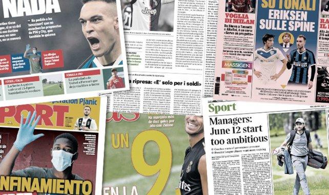 Les joueurs et entraîneurs de Premier League se révoltent contre le projet de reprise, Lautaro Martinez refuse le PSG et Manchester City