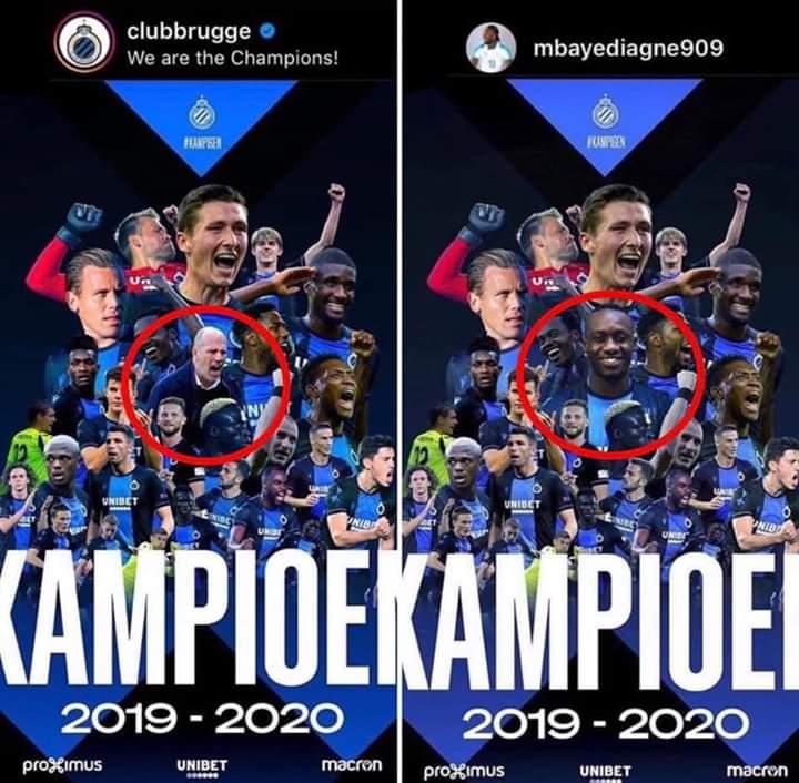 Fc Burges: Son image zappée sur l'affiche officielle des champions, Mbaye Diagne insère sa photo à la place du coach