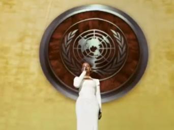 Beyoncé à l'ONU pour célébrer le travail des humanitaires