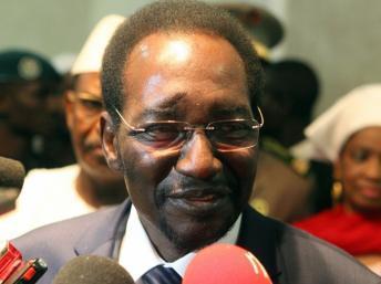 Le président malien de la transition Dioncounda Traoré à son arrivée à Bamako le 27 juillet 2012.