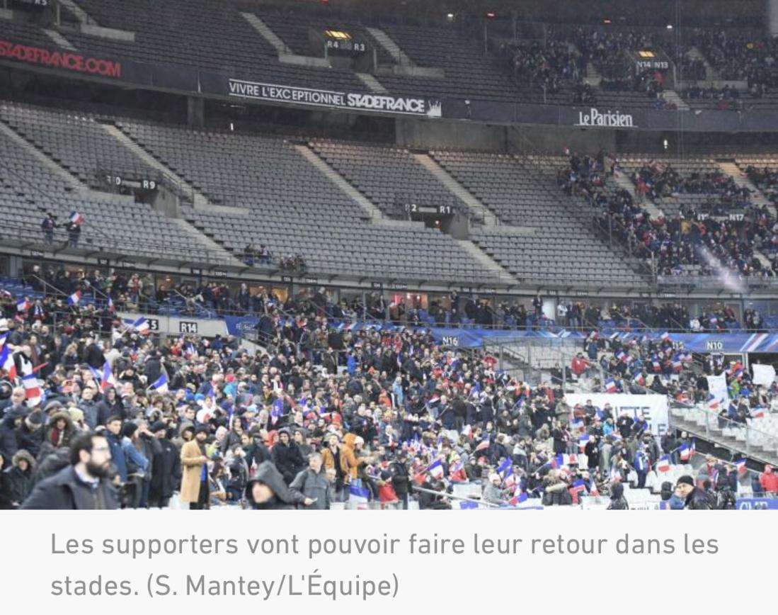 France: Les sports collectifs de nouveau autorisés, réouverture des stades au public à partir du 11 juillet