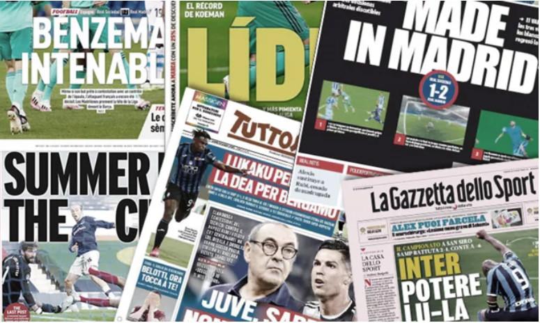 La presse catalane crie au scandale sur l'arbitrage du Real Madrid, Cr7 donne des maux de tête à Maurizio Sarri