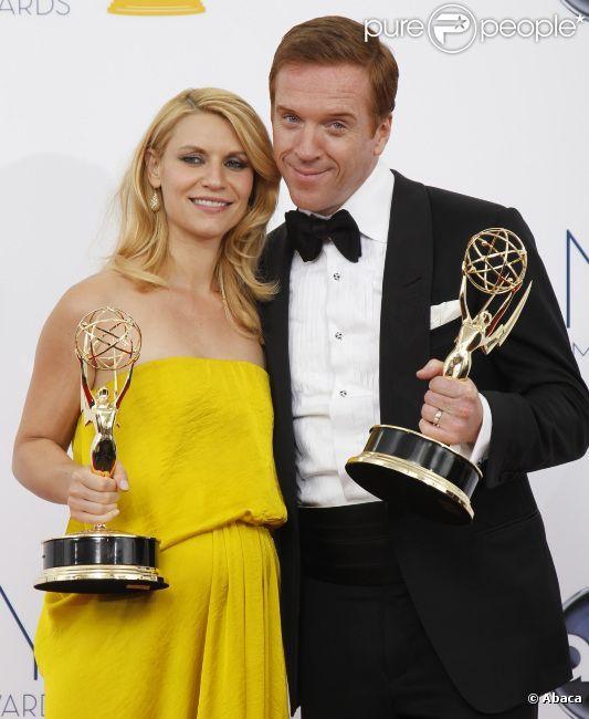 Claire Danes et Damien Lewis lors de la 64e cérémonie des Emmy Awards, à Los Angeles, le 23 septembre 2012