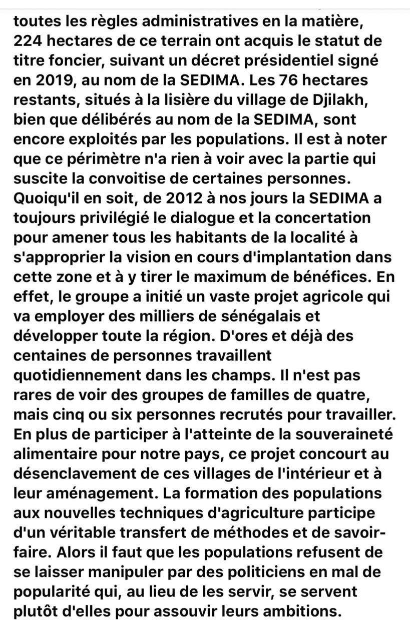 Babacar Ngom VS Paysans de Ndingler: des 76 hectares mal acquis à la sortie maladroite de sa fille Anta sur Facebook