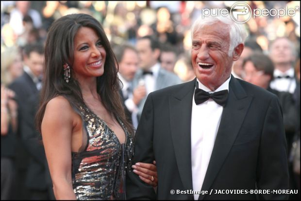 Jean-Paul Belmondo et sa compagne Barbara Gandolfi à Cannes en mai 2011 Dans cette photo : Jean-Paul Belmondo