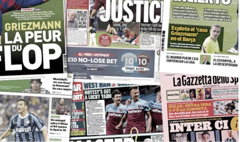 L'affaire Griezmann fait le tour de la presse européenne, Paulo Dybala fait de l'ombre à Cristiano Ronaldo