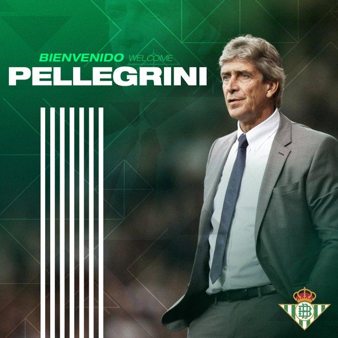 Officiel | Manuel Pellegrini nommé entraîneur de Betis