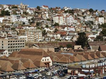 Vue générale d'Antananarivo, capitale de Madagascar